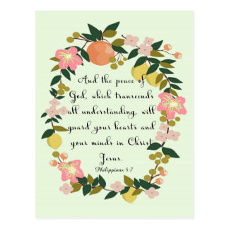 Christliche Zitat-Kunst - Philippians-4:7 Postkarten