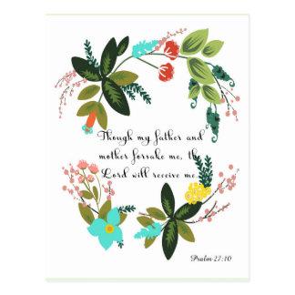 Christliche Zitat-Kunst - Psalm-27:10 Postkarte
