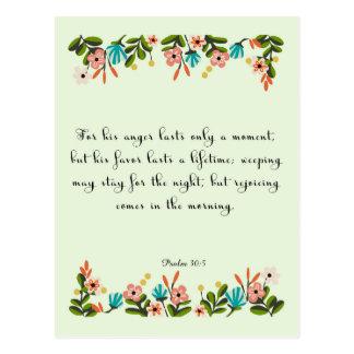 Christliche Zitat-Kunst - Psalm-30:5 Postkarte