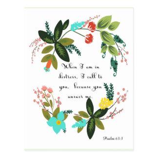 Christliche Zitat-Kunst - Psalm-63:3 Postkarte