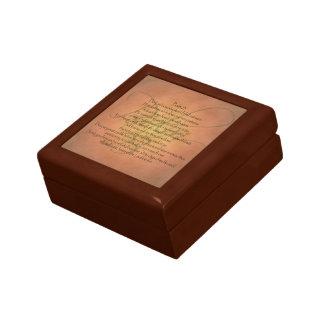 Christlicher Bibel-Vers des Psalm-23 KJV Kleine Quadratische Schatulle