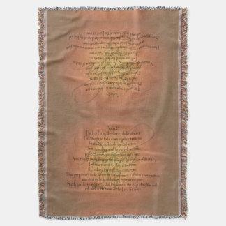 Christlicher Bibel-Vers des Psalm-23 KJV religiös Decke