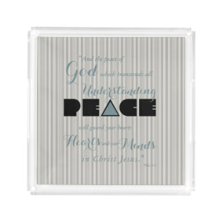 Christlicher Frieden des Gottes Acryl Tablett