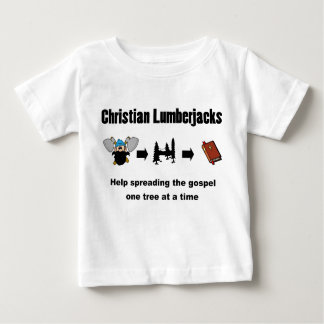 Christlicher Holzfäller Baby T-shirt