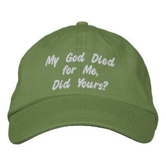 Christlicher Hut Besticktes Cap
