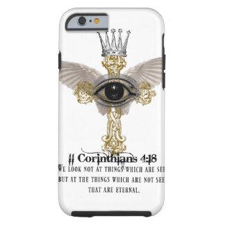 Christlicher iPhone Fall - 4:18 der Korinther II Tough iPhone 6 Hülle
