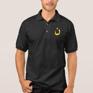 Christlicher Nazaräer-geistiges Symbol im Gelb Polo Shirt