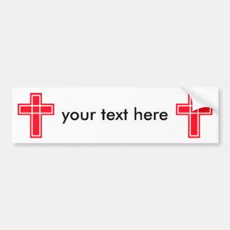 Christlicher QuerAutoaufkleber für Ihren Text Autoaufkleber