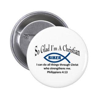 Christlicher Radfahrer Runder Button 5,7 Cm