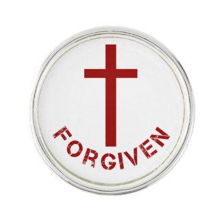 Christlicher versöhnlicher rotes Kreuz-und Anstecknadel