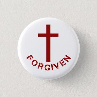 Christlicher versöhnlicher rotes Kreuz-und Runder Button 2,5 Cm