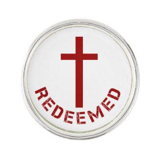 Christlicher zurückgekaufter rotes Kreuz-und Anstecknadel