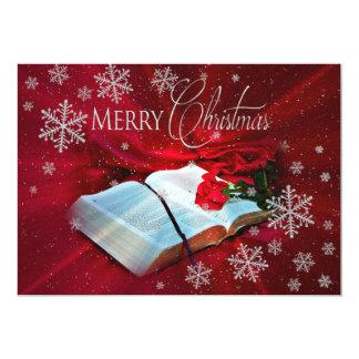 Christliches Bibel-Weihnachten Karte