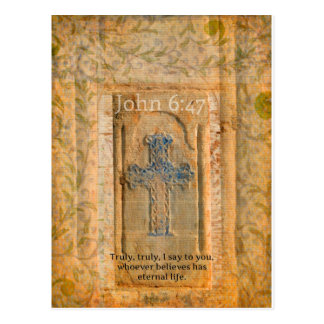 Christliches biblisches Zitat-Renaissance-Kreuz Postkarten