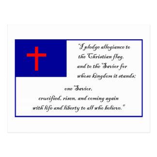Christliches Fkag und Bürgschaft zur christlichen Postkarte