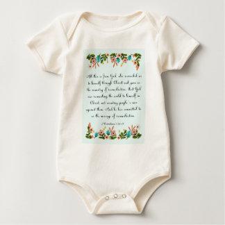Christliches inspirational Korinther-5:18 der Baby Strampler