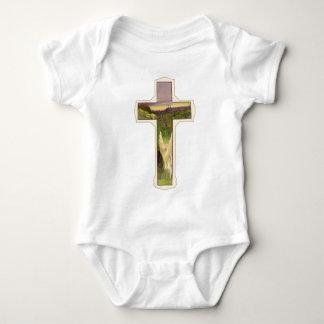 Christliches Kreuz Baby Strampler