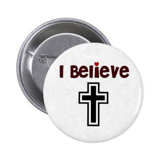 Christliches Kreuz Button