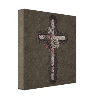 Christliches Kreuz Gespannter Galerie Druck