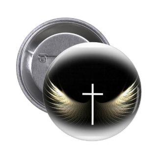 Christliches Kreuz und Heiliger Geist Button