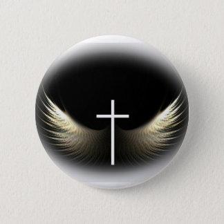 Christliches Kreuz und Heiliger Geist Runder Button 5,1 Cm