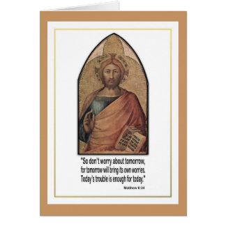 Christliches Matthew-6:34 Vers-Zitat ~ sorgen sich Karte