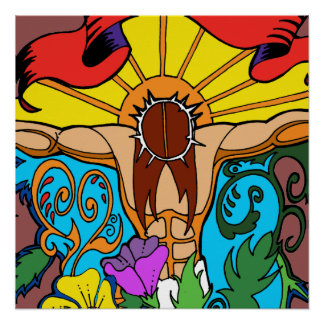 Christliches Plakat: Christus auf Kreuz Poster