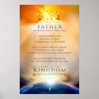 Christliches Plakat - das Gebet von Jesus Christus