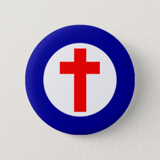 Christliches Roundel Runder Button 5,1 Cm