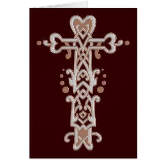 Christliches verziertes Kreuz 38 Karte