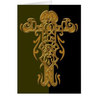 Christliches verziertes Kreuz 49 Karte