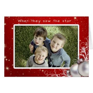 Christliches Weihnachtsgroße Foto-Gruß-Karte Karte