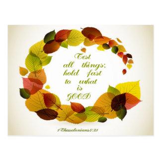 Christliches Zitat: 1 Thess. 5:21 - Postkarten