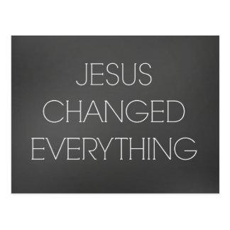 Christliches Zitat: Jesus änderte alles Postkarte