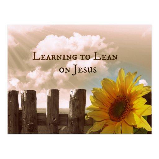 Christliches Zitat: Lernen, sich auf Jesus zu Postkarte
