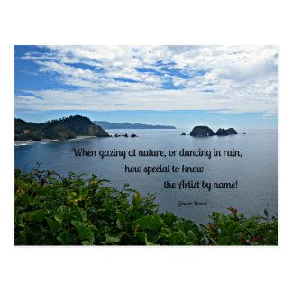 Christliches Zitat über Natur Postkarten