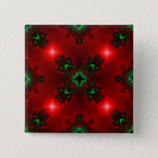 Christmas Artdeco in Retro Style Quadratischer Button 5,1 Cm