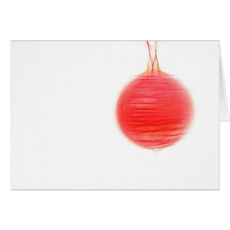 Christmas card abstract red Christmas ball Karte