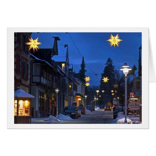 Christmas Card Black Forest town Karte
