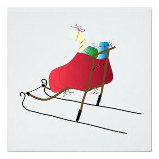 Christmas Card Kick Sled Karte
