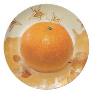 Christmas Clementine Flache Teller