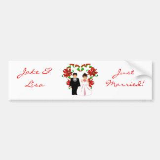 Christmas/December Just Married Bumper Sticker Bumper Sticker