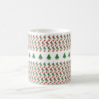 Christmas design with socks and tree tasse