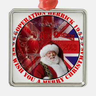 Christmas for Operation Herrick 19 Silbernes Ornament