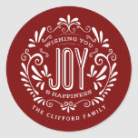 CHRISTMAS HOLIDAY CHALK ART ORNAMENT STICKERS