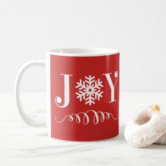 Christmas Holiday Joy Snowflake Mug Gift Kaffeetasse