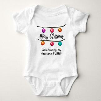 ChristmasBalls-auf-weniger-Schnüre Baby Strampler