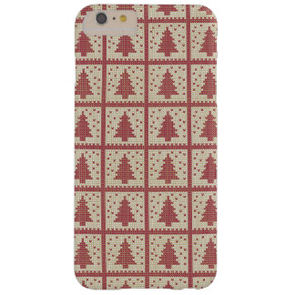 Christmassy Rot gestricktes Muster Barely There iPhone 6 Plus Hülle