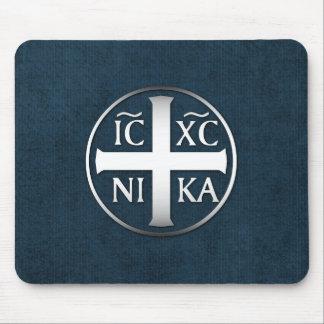 Christogram ICXC NIKA Jesus erobert Mousepad