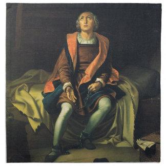 Christoph Kolumbus Farbe durch Antonio De Herrera Stoffserviette
